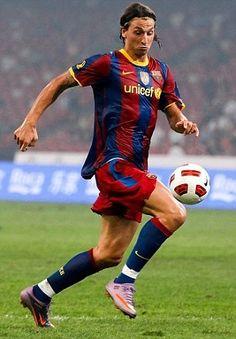 zlatan ibrahimovic with Fc Barcelona