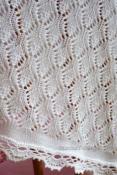New Ideas For Crochet Blanket Lace Ravelry Baby Knitting Patterns, Lace Patterns, Lace Knitting, Knitting Stitches, Crochet Yarn, Stitch Patterns, Crochet Patterns, Ravelry Crochet, Knitting Accessories