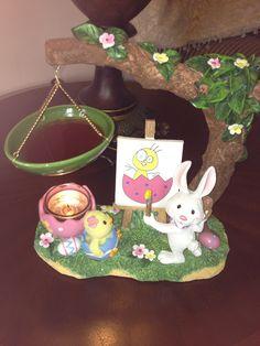 My Yankee Candle Easter Tart Warmer.