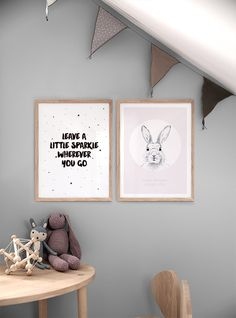 Typography print of stars | Typography posters for children and children's room
