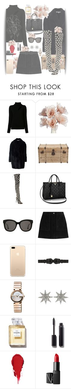 """""""Fashion"""" by nahucielore ❤ liked on Polyvore featuring A.L.C., Alexander McQueen, Oscar de la Renta, Gentle Monster, rag & bone, B-Low the Belt, Gucci, Bee Goddess, Chanel and NARS Cosmetics"""