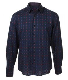 Buy House of Lords Navy Gimlet Dress Shirt: Check out this beautiful new fashion button down from House of Lords Clothing. House of Lords has...