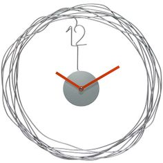Wire Transfer Wall Clock - Clocks - Framed Art - Unframed Art - Wall Sculptures - Home Decor - Wall Decor - Gifts | HomeDecorators.com