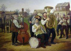 Joy In The Village By Boris Dubrov