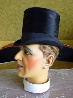1870 Victorian Top Hat antiker Zylinder antique Hat