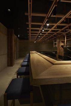 鮨なかもと Japanese Modern, Japanese Style, Grilled Meat, Copper Kitchen, Restaurant Design, Store Design, Sushi, Interior Decorating, Villa