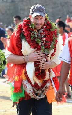 Prince Harry arrives into the Himalayan village of Okhari on day four of his visit to Nepal on March 22, 2016 in Bardia, Nepal. Prince Harry is on a five day visit to Nepal, his first official tour of the country.