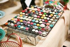 oven rack display: cute idea for rings!