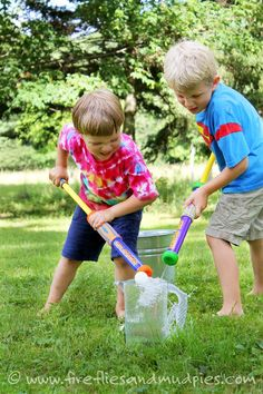 Challenge kids to work together to push the ping pong ball out of the pitcher! | Fireflies and Mud Pies