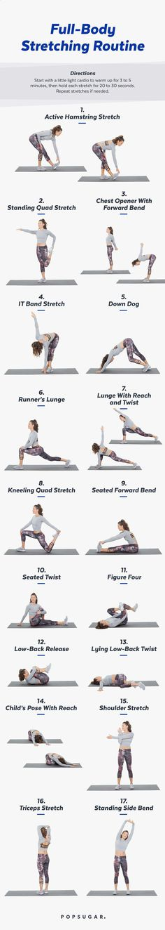 Printable Full-Body Stretch Routine For Chill Days