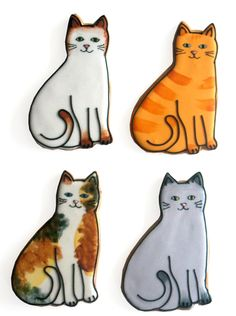 Kitty Cookies by Baked Ideas