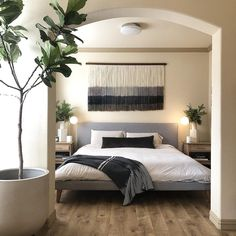 with and coordinating modern neutral bedroom decor, modern bedroom design Master Bedroom Interior, Home Decor Bedroom, Interior Design Living Room, Bedroom Ideas, Budget Bedroom, Design Interiors, Bedroom Designs, Bedroom Inspiration, Bedroom Wall