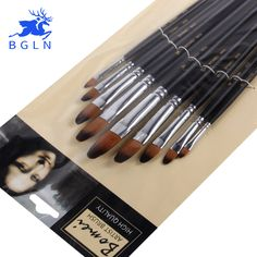 9pcs/set Nylon Oil Paint Brush Round Painting Brush For Watercolor,Oil,Acrylic Brush Pen pincel para pintura Art Supplies 803 #women, #men, #hats, #watches, #belts, #fashion