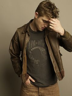 Carter Smith 2010 ~ brown leather vintage jacket