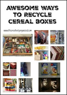 Awesome ways to recycle cereal boxes