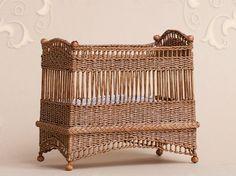 1/12 scale wicker crib by Will Werson.