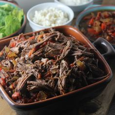 A Mexican Classic - Machaca aka Slow Cooker Beef Brisket Straight From #TheKitchen - Cooking In Stilettos™