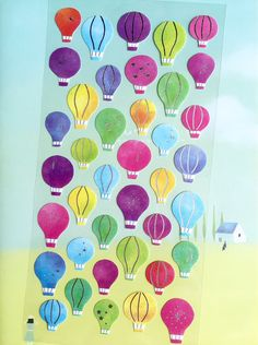 hot air balloon sticker colorful hot air by StickersKingdom