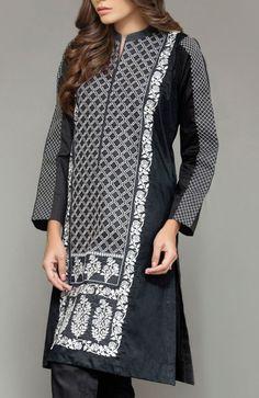 Black Embroidered Cambric Kurti Contact: (702) 751-3523  Email: info@pakrobe.com  Skype: PakRobe