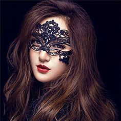 Masquerade Mask Sexy for Women with Sexy Black Lace Venet...
