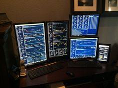 Computer Technology, Computer Science, Computer Desks, Stock Trader, Day Trader, Luxor, Trading Desk, Workspace Inspiration, Online Trading