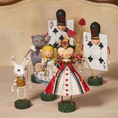 Lori Mitchell - Alice in Wonderland Complete Set Alice In Wonderland Decorations, Alice And Wonderland Quotes, Alice In Wonderland Tea Party, Paper Dolls, Art Dolls, Alice In Wonderland Illustrations, Mad Hatter Party, Paper Mache Crafts, Clothespin Dolls
