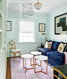 Madeline Weinrib Megan Cotton Carpet in home of Style at Home editor Jessica Waks