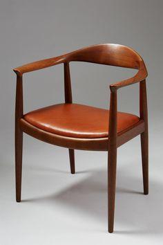 """""""The Chair"""", designed by Hans Wegner for Johannes Hansen, Denmark. 1950's."""
