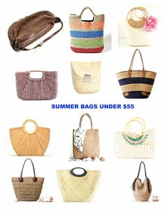 straw bags, weave straw totes, summer bags, beach bags, straw handbags, raffia bags, rattan bags, available at fluteofthehour at etsy.com