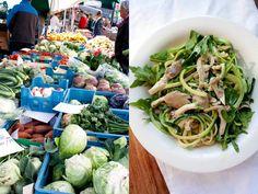 Mijn favoriete courgetti met paddestoelen Catering, Cabbage, Dinner, Vegetables, Healthy, Spaghetti, Food, Kitchen, Zucchini