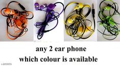 Wired Headphones & Earphones General Wired Earphone ( Pack Of 2 ) Material : PlasticRubber & Metal Size : Free Size  Type : In Ear Audio Jack : 3.5 mm Compatible With : All Smart Devices With Mic : Yes Description: It Has 2 Pieces Of Wired Earphone Note : Color : Assorted Country of Origin: India Sizes Available: Free Size   Catalog Rating: ★4 (1729)  Catalog Name: General Wired Earphone Vol 1 CatalogID_388288 C97-SC1375 Code: 622-2858859-
