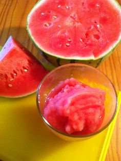 Watermelon Sorbet, made with only watermelon