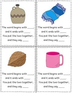 FUN PHONEMIC AWARENESS TASK CARDS: CVC WORDS - Addresses RF.K.2.C Blend and segment onsets and rimes of single-syllable spoken words and more! $