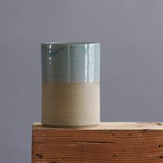 stoneware pottery cup. simple modern blue cup. minimal modern utilitarian ceramics by vitrifiedstudio