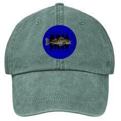 Walleye Lake of the Woods (blue) Stonewashed Cap