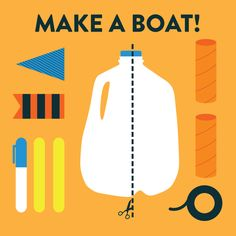 Want To Challenge Your Kids? How inventive are your kids?  Challenge them to create a boat using only the things in this picture!