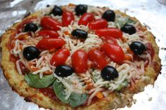 Cauliflower Pizza Crust Recipe - looks east (& can use my leftover baby food puree)