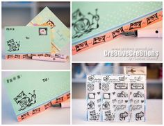 Creative Creations by Andrea Gomoll | NEW Clearstamps for Snailmail Fun: The heARTmail Clearstamp Set | http://andrea-gomoll.de/stamps/ #penpals #snailmail #happymail #snailmailrevolution #mailart