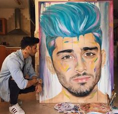 There we have Zayn painting Zayn If u dobt believe it is Zayn, check the tattoos on his arm. Zayn Malik Style, Zayn Malik Photos, Zayn Malik Drawing, Harry Styles, Zayn Malik Wallpaper, Desenhos One Direction, Zany Malik, I Love One Direction, Direction Quotes