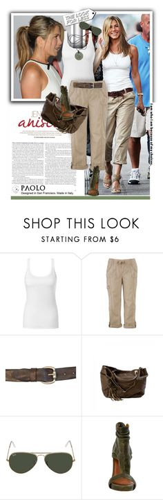 """""""Jennifer Aniston in PaoloShoes"""" by spenderellastyle ❤ liked on Polyvore featuring Giambattista Valli, Intimissimi, maurices and Ray-Ban"""