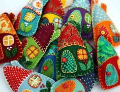house ornaments with vintage fabric - Google Search