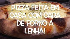 Aprenda a fazer uma pizza linda como de forno a lenha usando forno comum a gás ou elétrico O Gas, Home Made Pizza, Wood Oven, Meals, Bebe