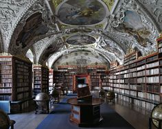 The Theological Hall of the Strahov Library in Prague.