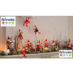 Duendes de la Navidad de fieltro Christmas Wreaths To Make, Christmas Crafts, Christmas Decorations, Christmas Tree, Christmas Ornaments, Holiday Decor, Xmas Elf, Light Garland, Felt Ornaments