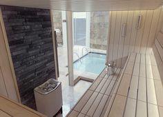 Sauna seating & interior