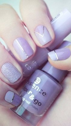 Lavender shellac nails