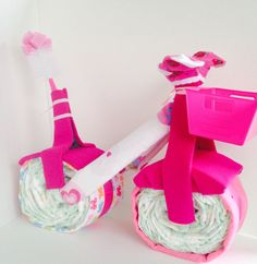 Girl Bicycle Diaper Cake Bicycle Diaper Cake by AbunCreation
