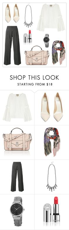 """Y"" by haranata ❤ liked on Polyvore featuring Sea, New York, Francesco Russo, Proenza Schouler, Jacquemus, M&Co, August Steiner, Kjaer Weis, hijab, hijabstyle and Hijablook"