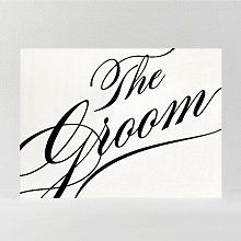 Calligraphy Groom: DIY Wedding Sign