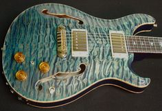 Paul Reed Smith Private Stock #847 Hollowbody II.  This guitar almost looks like it's made out of water.